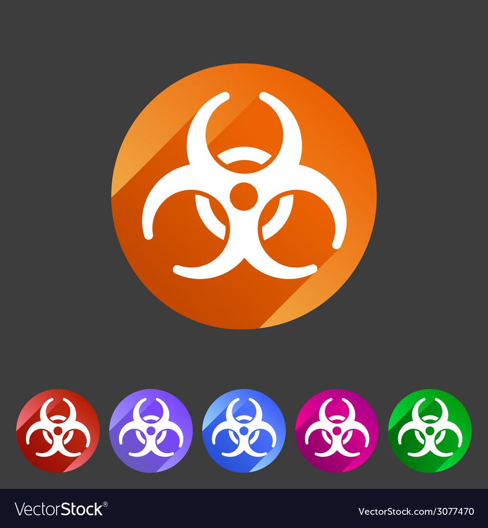 Ebola biohazard flat icon badge vector | Price: 1 Credit (USD $1)