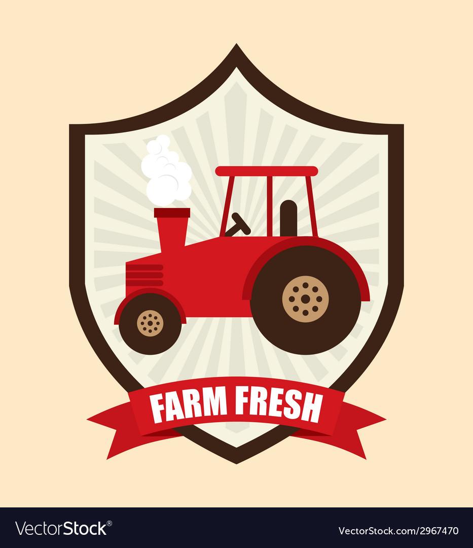 Farm fresh design vector | Price: 1 Credit (USD $1)