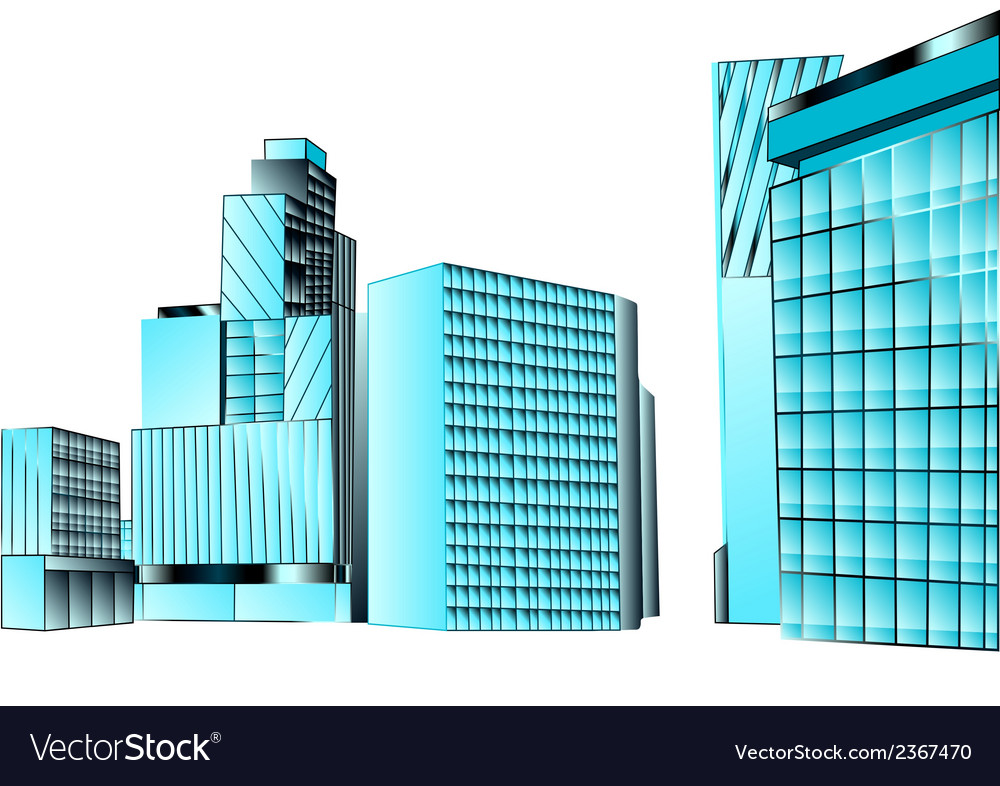 Financial district vector | Price: 1 Credit (USD $1)