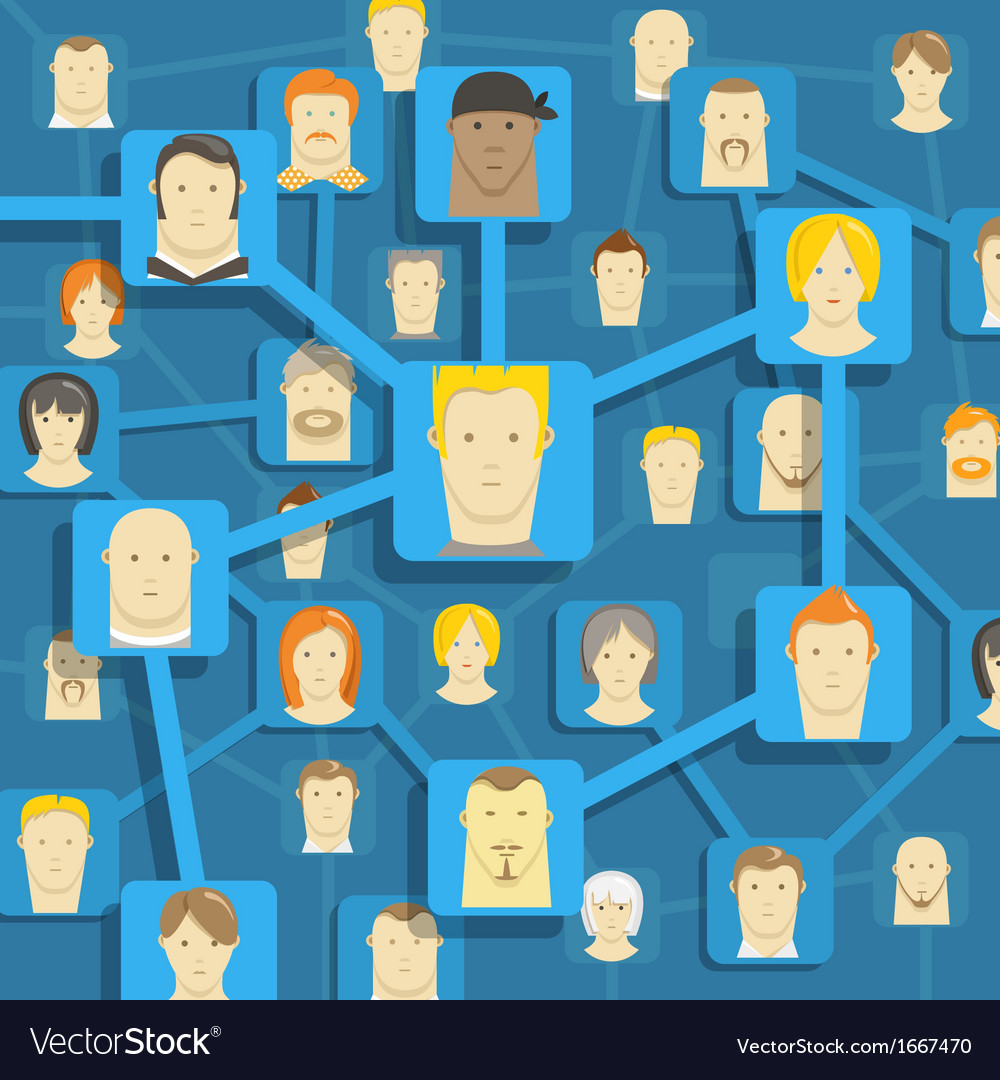 Modern people communication abstract scheme vector | Price: 1 Credit (USD $1)