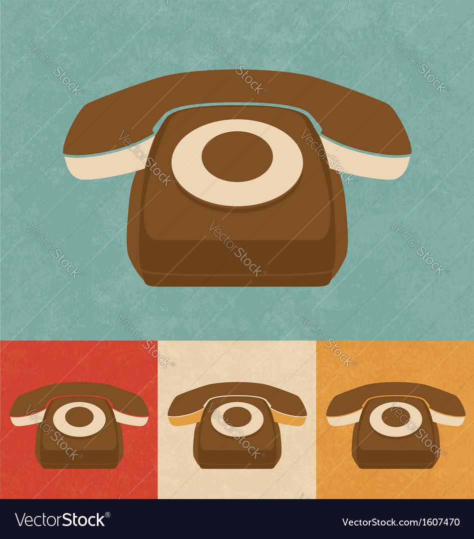 Retro phone icon vector   Price: 1 Credit (USD $1)