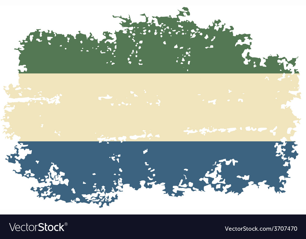 Sierra leone grunge flag vector   Price: 1 Credit (USD $1)
