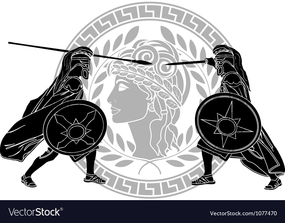 Trojan war stencil vector | Price: 1 Credit (USD $1)