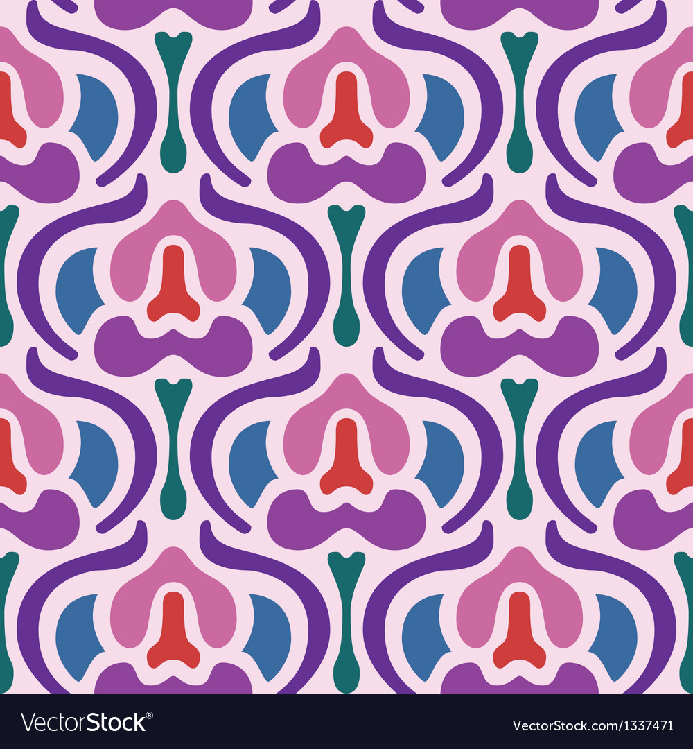 Art deco seamless pattern vector | Price: 1 Credit (USD $1)