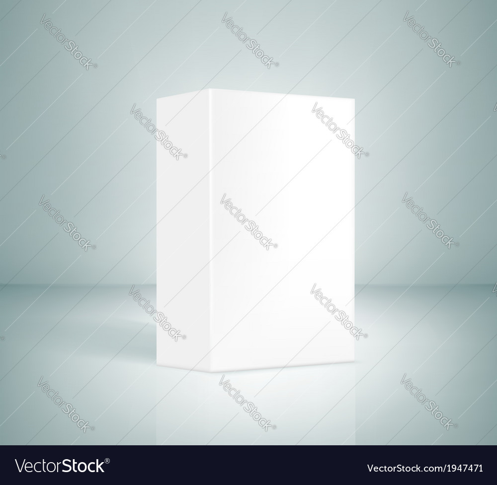 Blank white box vector | Price: 1 Credit (USD $1)