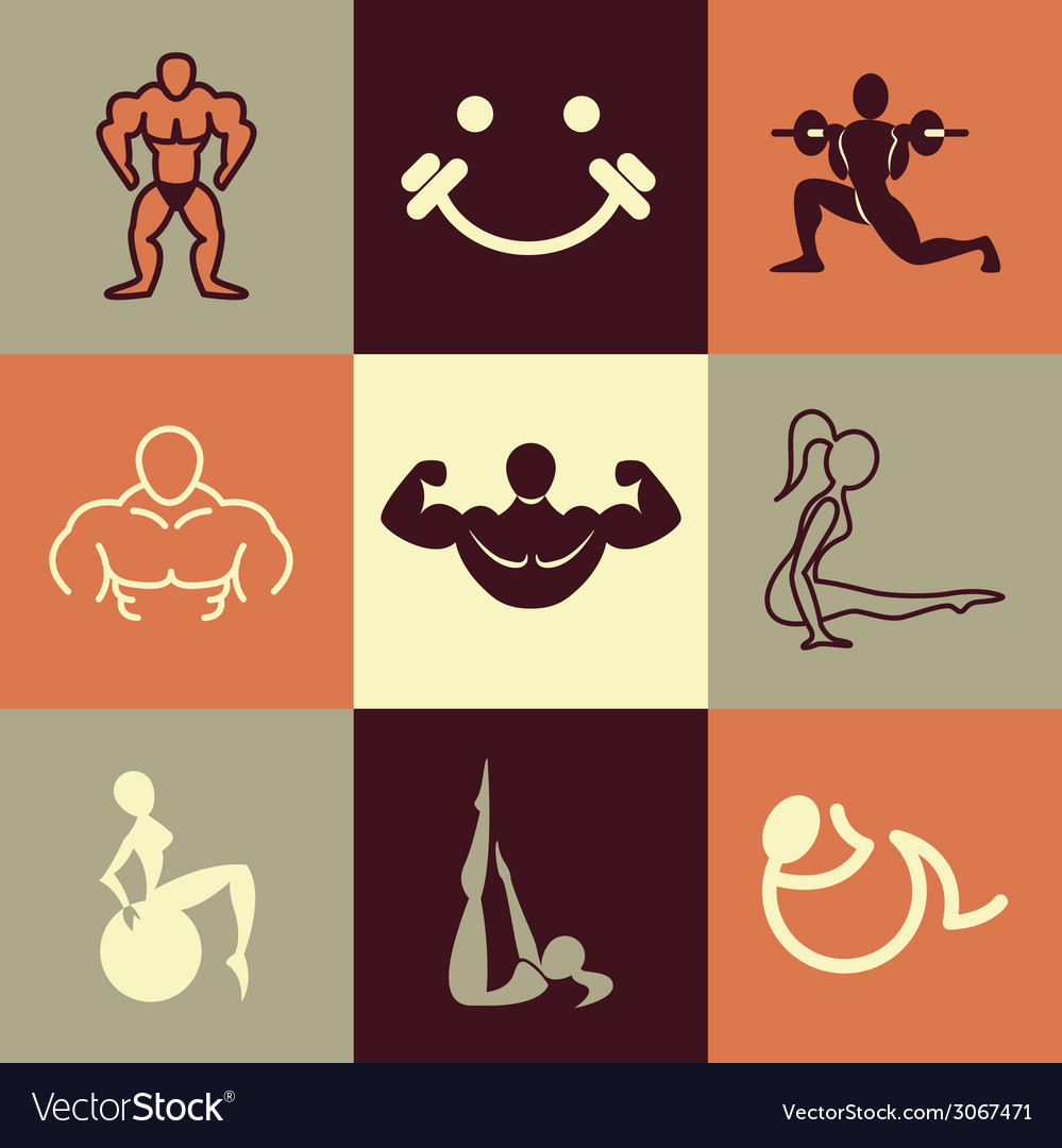 Gym logo icons vector | Price: 1 Credit (USD $1)