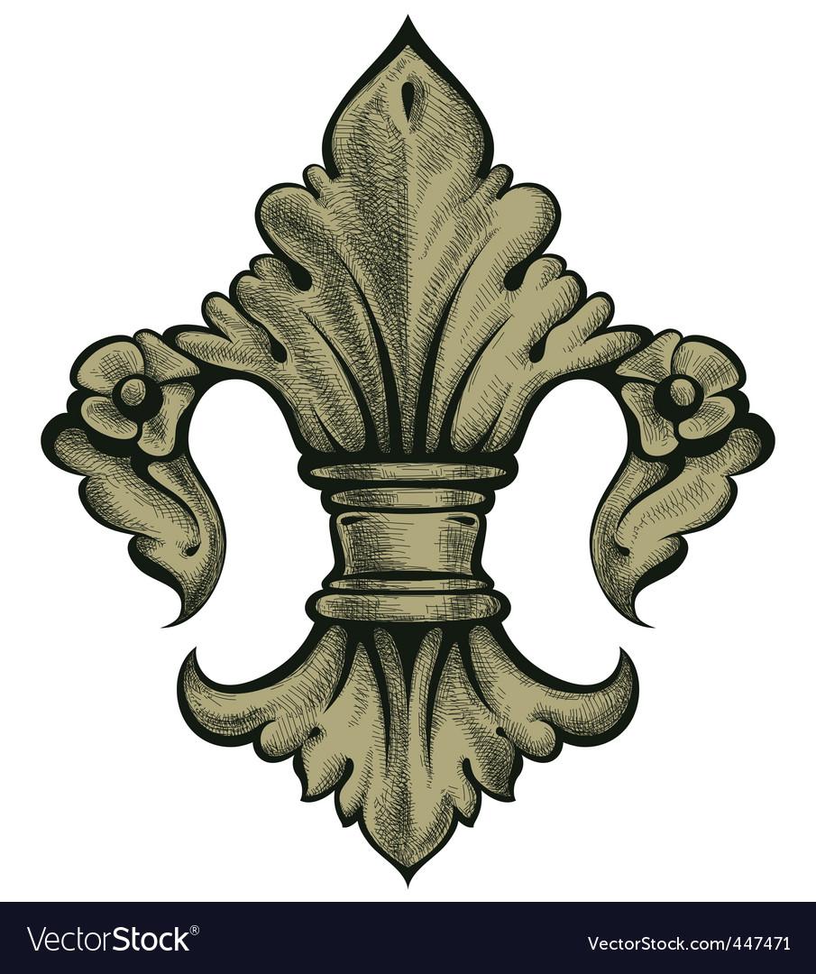 Heraldry lily vector | Price: 1 Credit (USD $1)