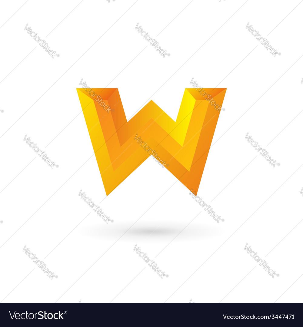 Letter w logo icon design template elements vector | Price: 1 Credit (USD $1)