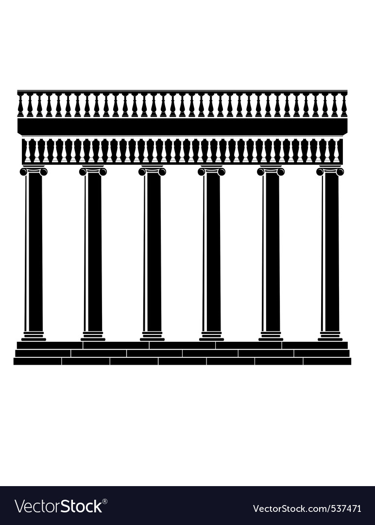 Portico colonnade vector | Price: 1 Credit (USD $1)