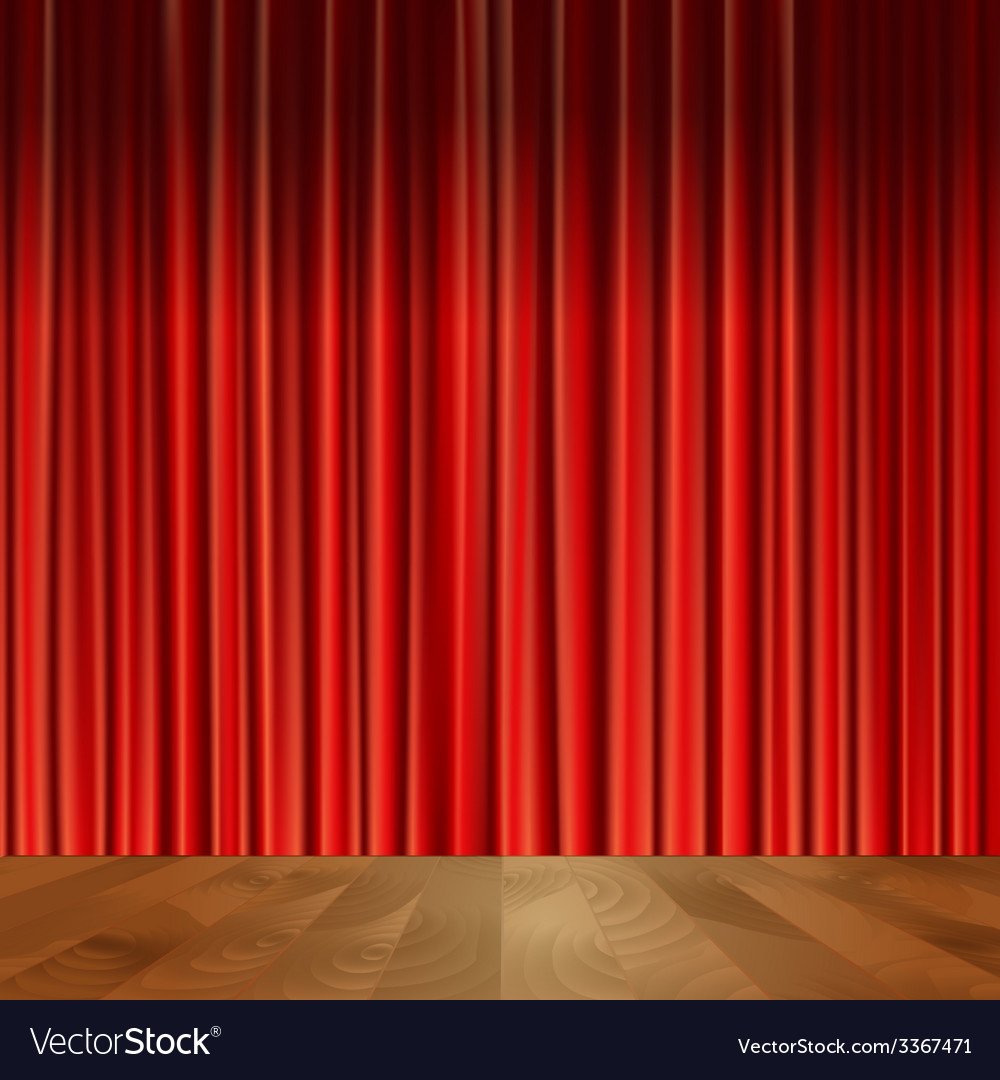 Theater curtains background vector | Price: 1 Credit (USD $1)