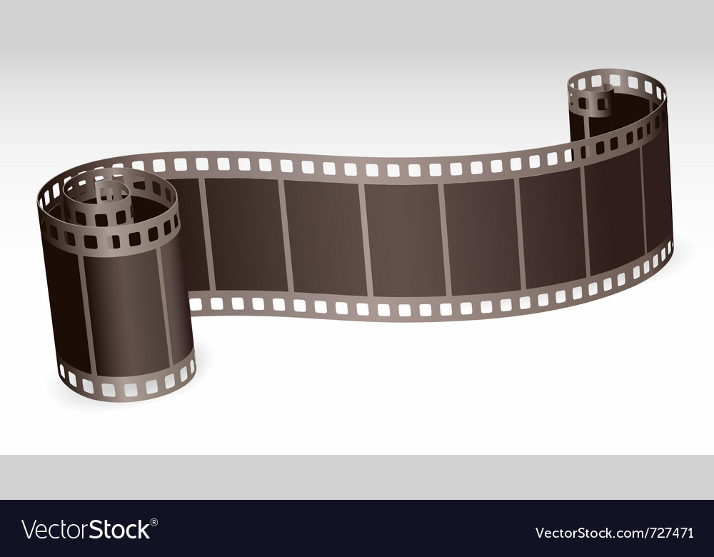 Twisted film strip vector | Price: 1 Credit (USD $1)