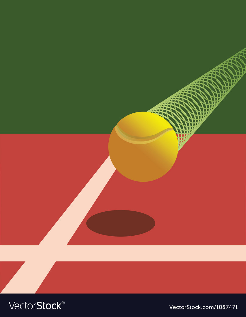 Victory tennis ball vector | Price: 1 Credit (USD $1)