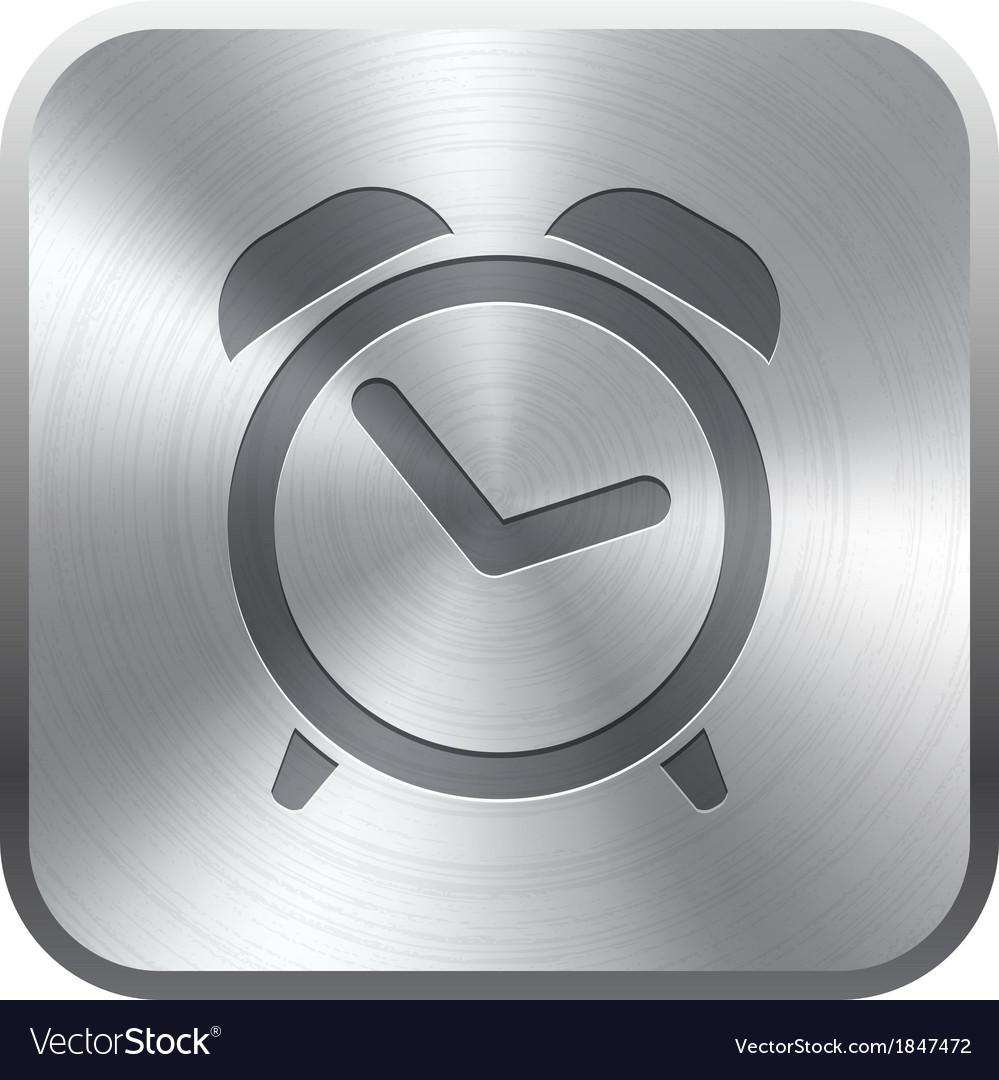 Alarm clock icon button vector | Price: 1 Credit (USD $1)