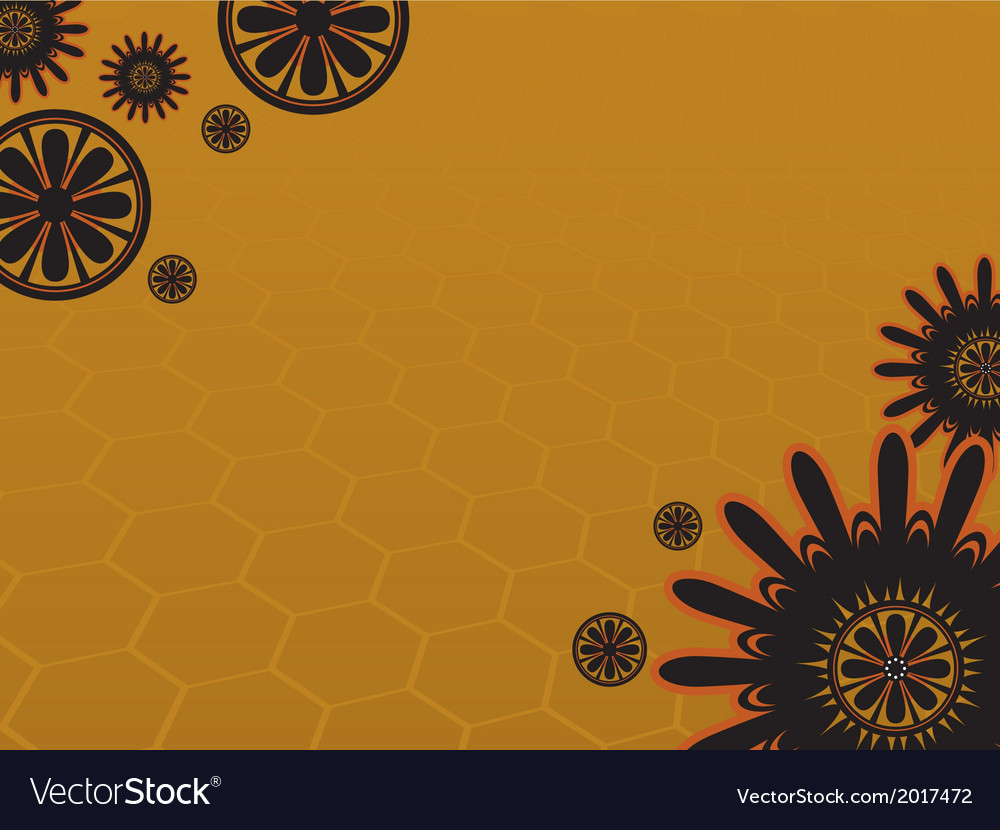 Background flower 3 yellow vector | Price: 1 Credit (USD $1)