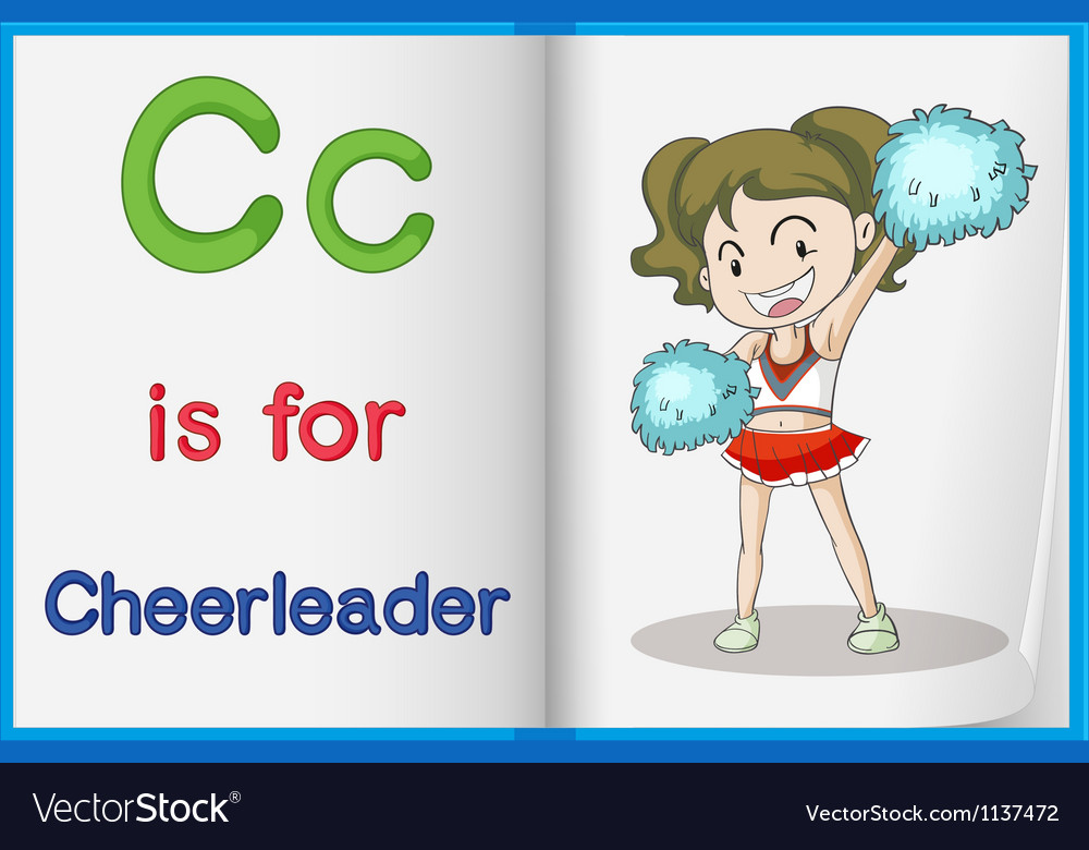 Cheerleader and a book vector | Price: 1 Credit (USD $1)