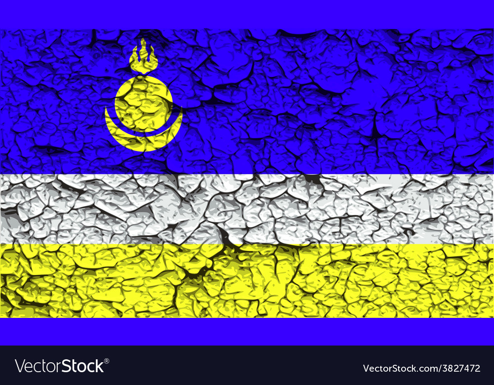Flag of buryatia with old texture vector | Price: 1 Credit (USD $1)