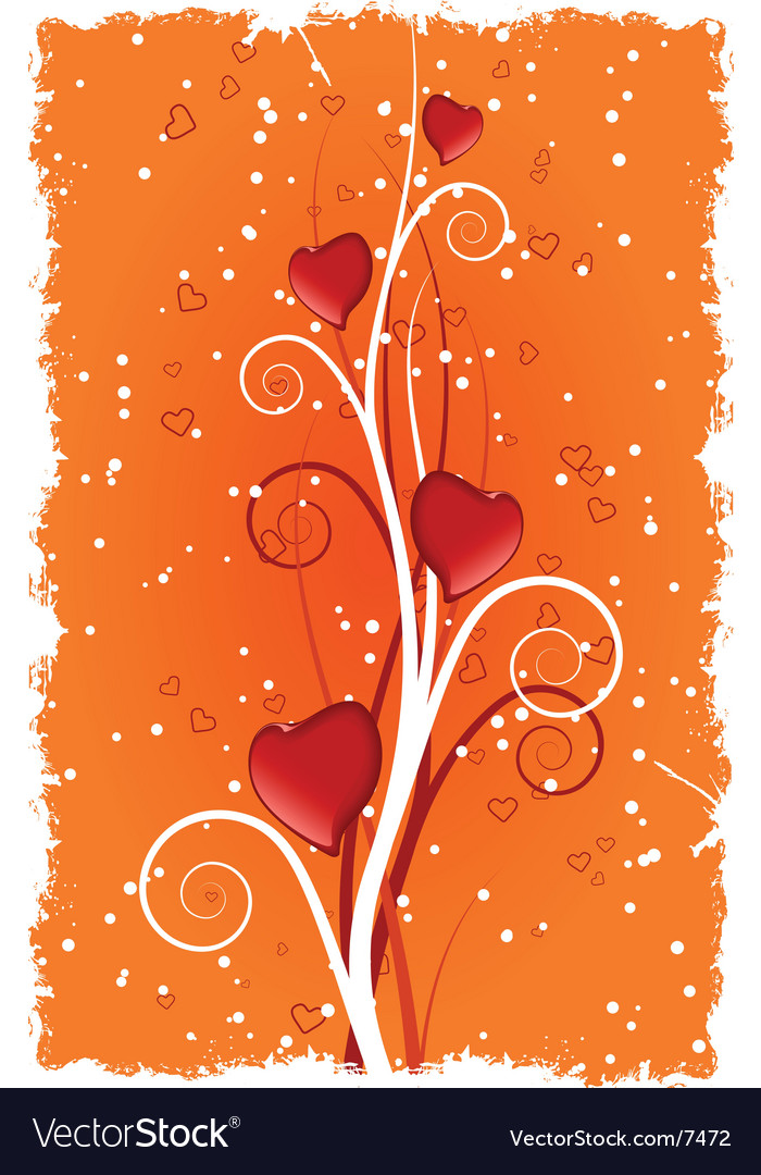 Grunge valentine's heart vector | Price: 1 Credit (USD $1)