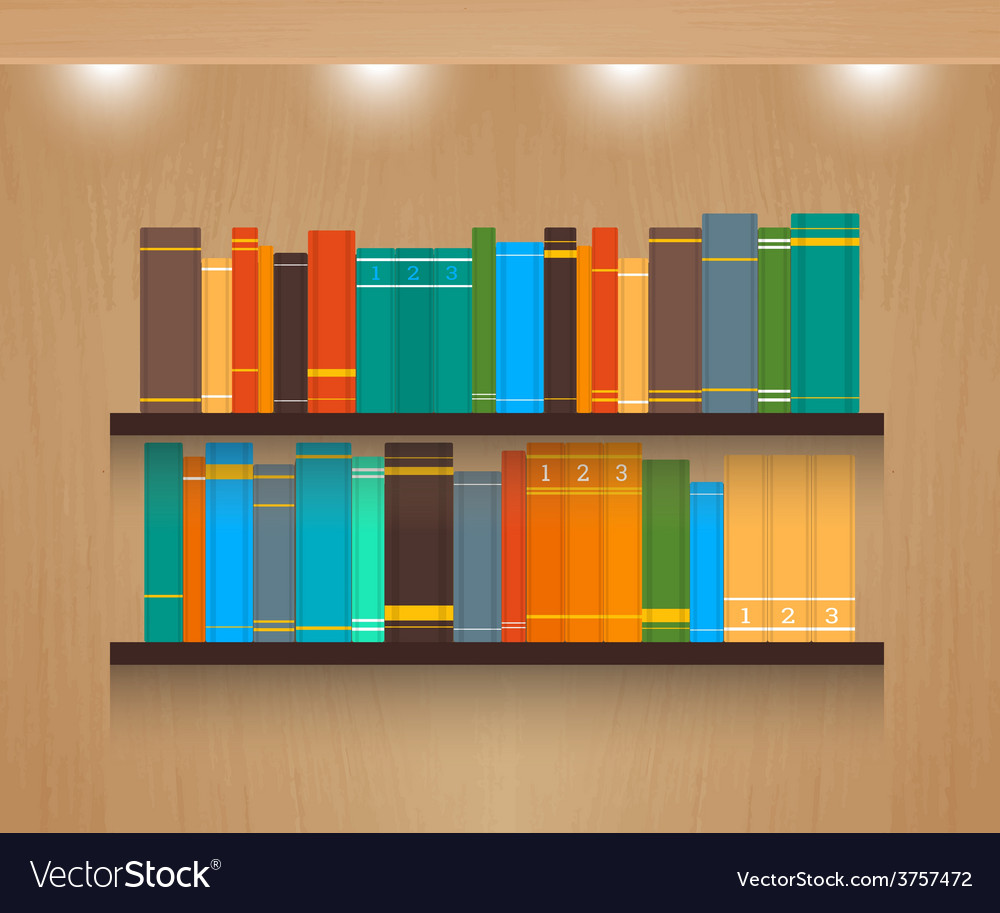 Home library vector | Price: 1 Credit (USD $1)