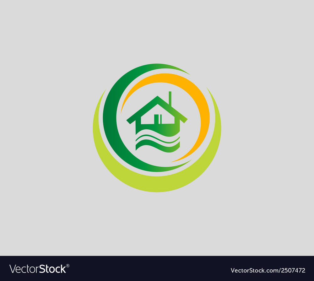 Houses symbol elements also a logo idea vector | Price: 1 Credit (USD $1)