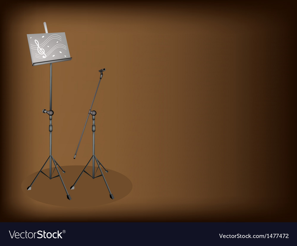 Music microphone stand background vector | Price: 1 Credit (USD $1)