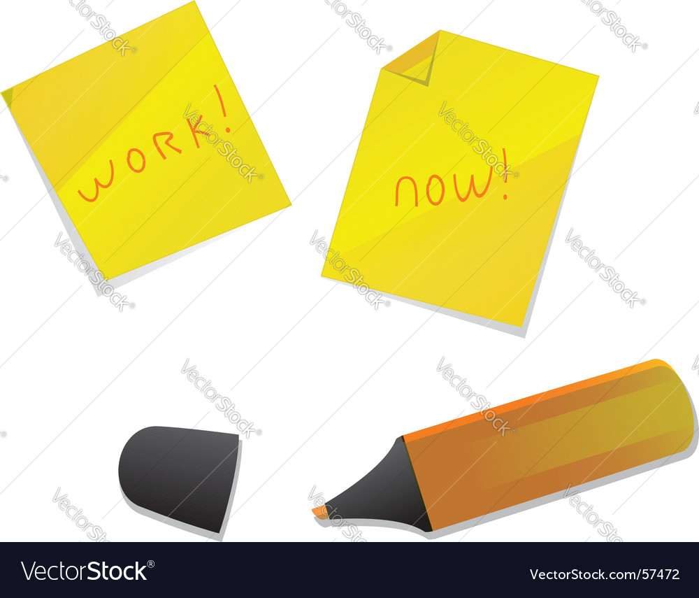 Pen and stickers vector | Price: 1 Credit (USD $1)