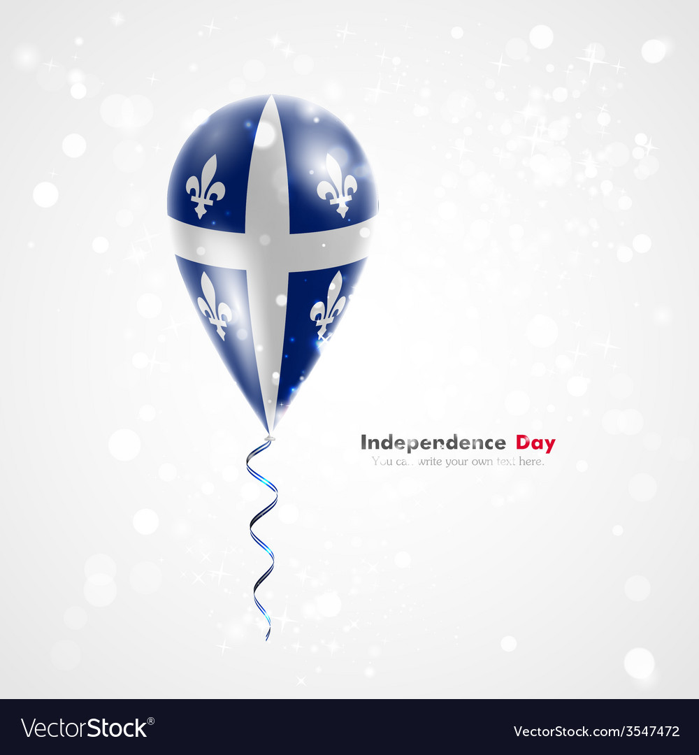 Quebec flag on balloon vector   Price: 1 Credit (USD $1)