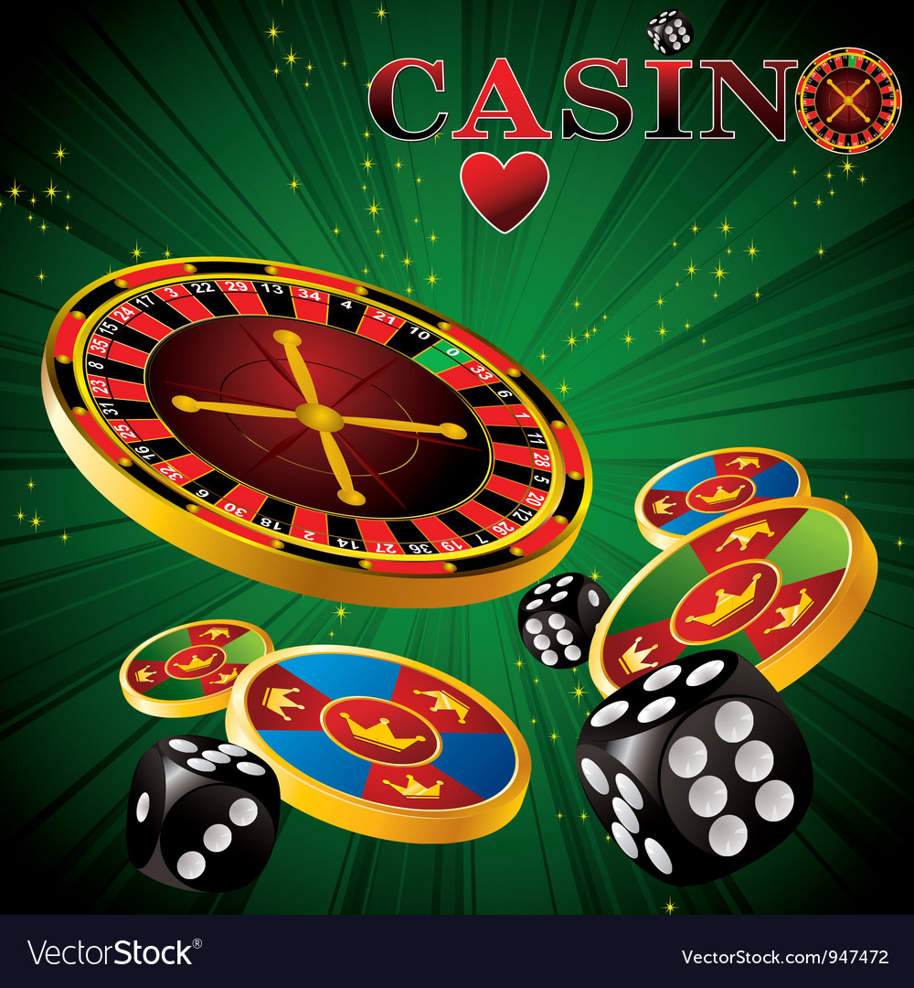 Roulette casino green vector | Price: 3 Credit (USD $3)
