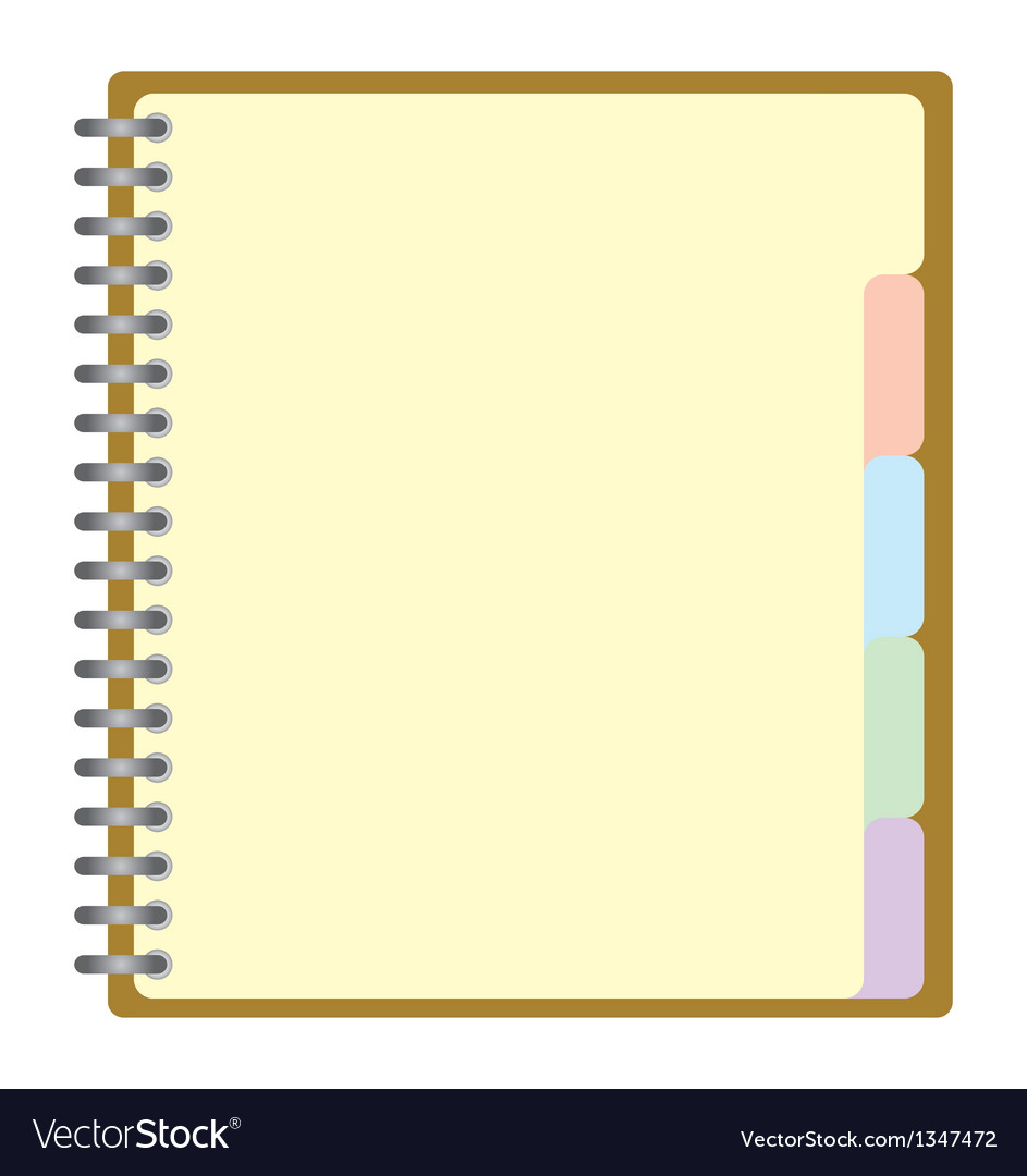 Weekly business project planner book vector | Price: 1 Credit (USD $1)