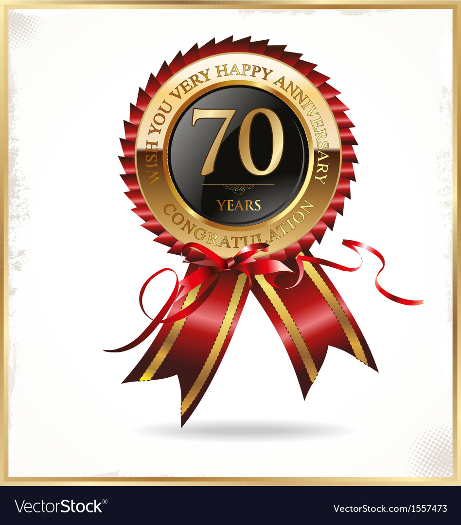 70 years anniversary label vector | Price: 1 Credit (USD $1)