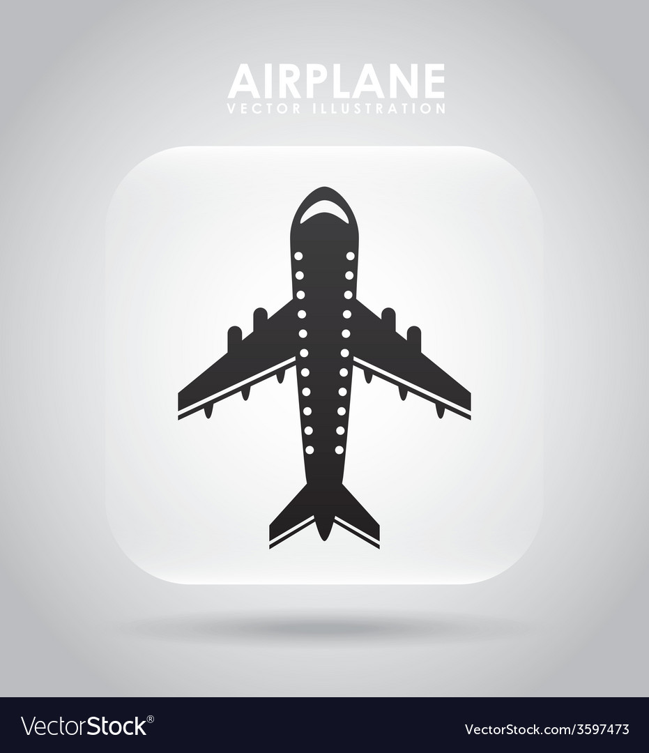 Airplane icon vector   Price: 1 Credit (USD $1)