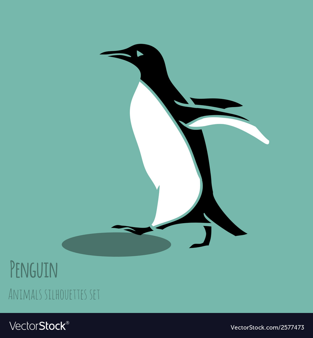 Black and white penguin vector | Price: 1 Credit (USD $1)