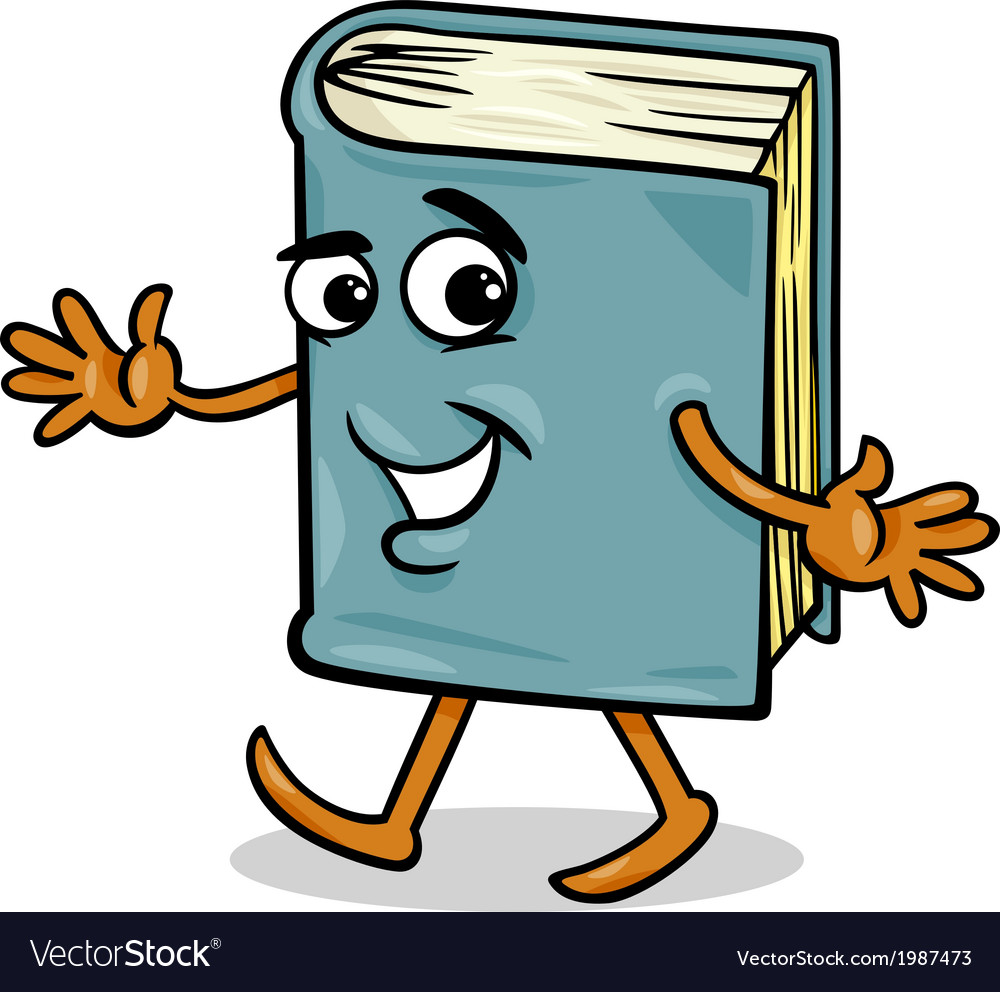 Book character cartoon vector | Price: 1 Credit (USD $1)
