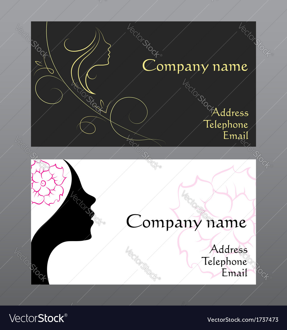 Business card for hairdressers vector | Price: 1 Credit (USD $1)