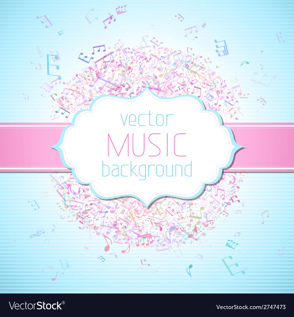 Colourful music background vector | Price: 1 Credit (USD $1)
