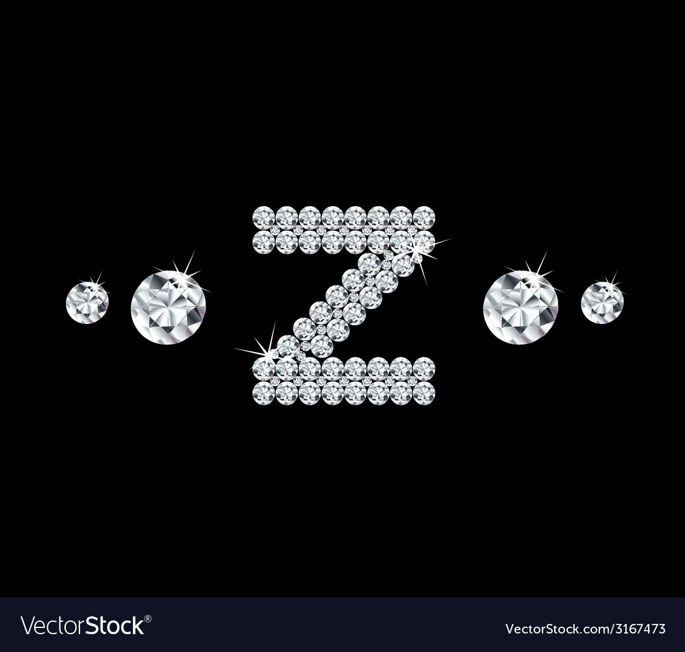 Diamond alphabetic letter z vector | Price: 1 Credit (USD $1)