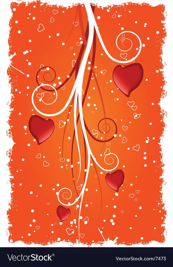 Grunge valentine's heart vector | Price: 1 Credit (USD $1)