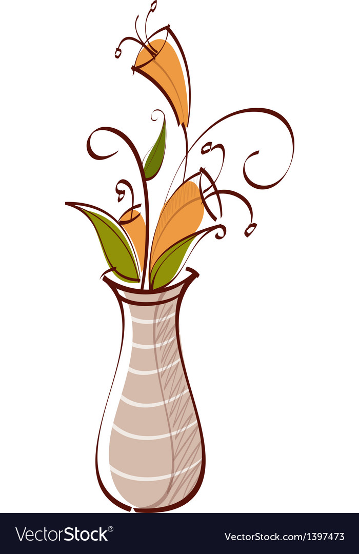 Icon vase vector | Price: 1 Credit (USD $1)