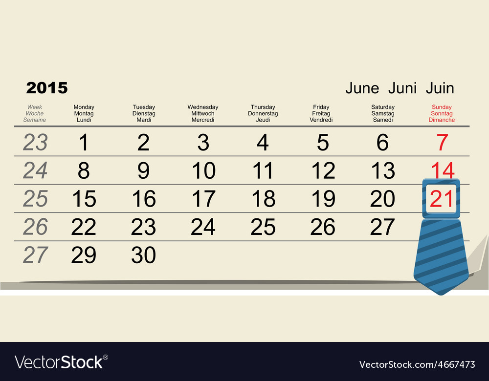 June 21 2015 - international fathers day vector | Price: 1 Credit (USD $1)