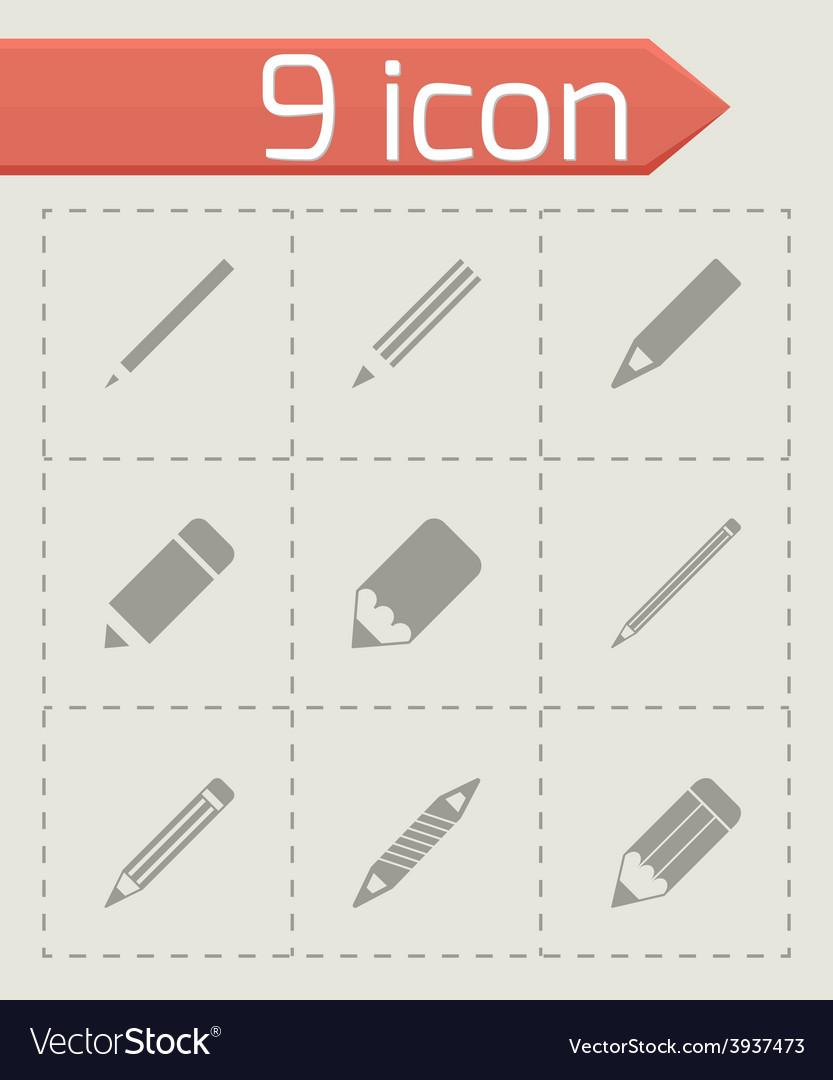 Pencil icon set vector | Price: 1 Credit (USD $1)