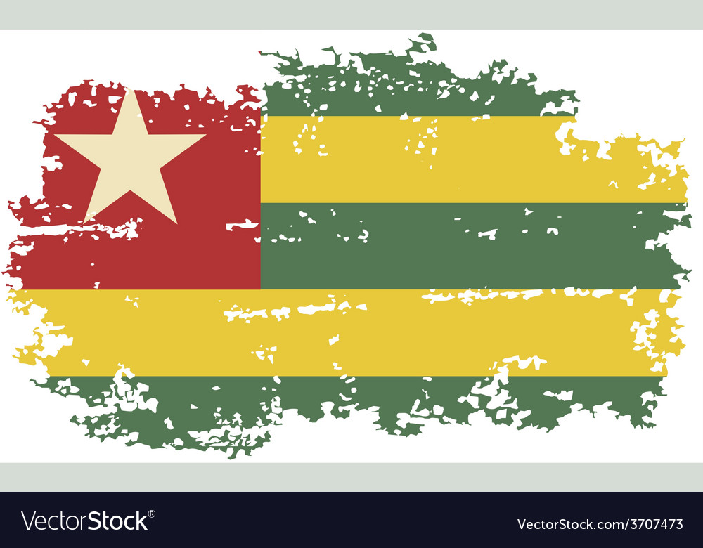 Togo grunge flag vector | Price: 1 Credit (USD $1)