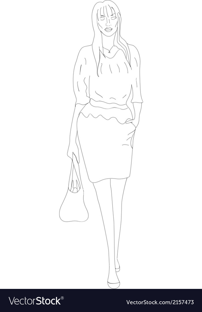 Woman bag vector | Price: 1 Credit (USD $1)