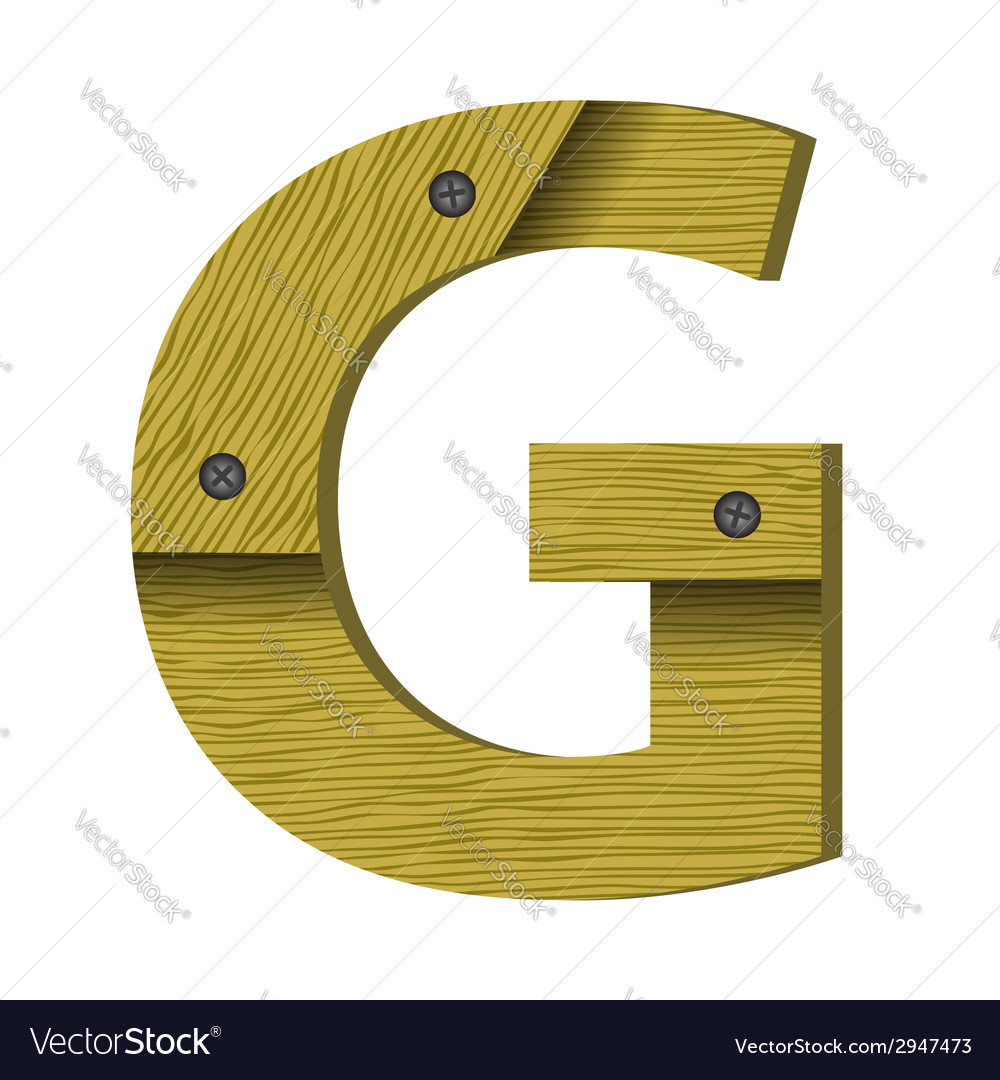 Wood letter g vector | Price: 1 Credit (USD $1)