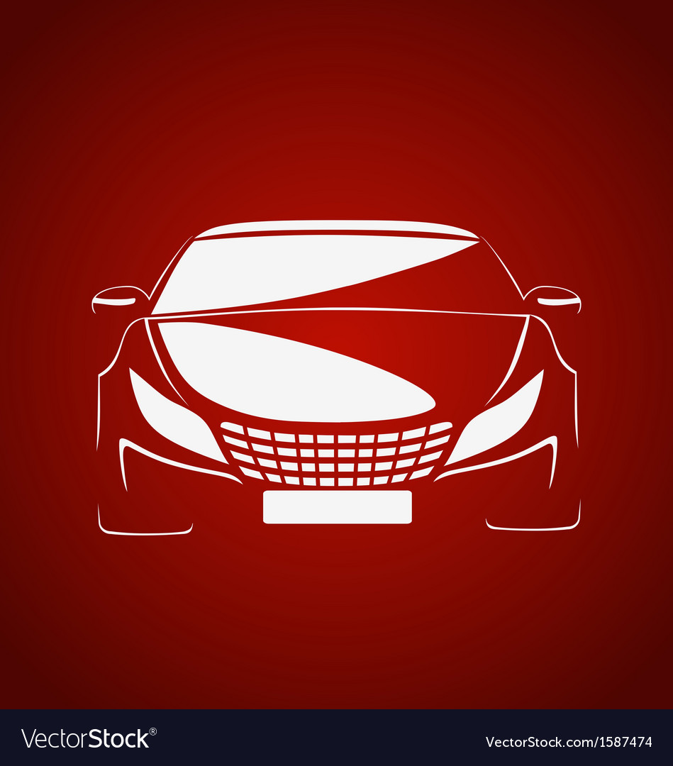 Auto in red vector | Price: 1 Credit (USD $1)