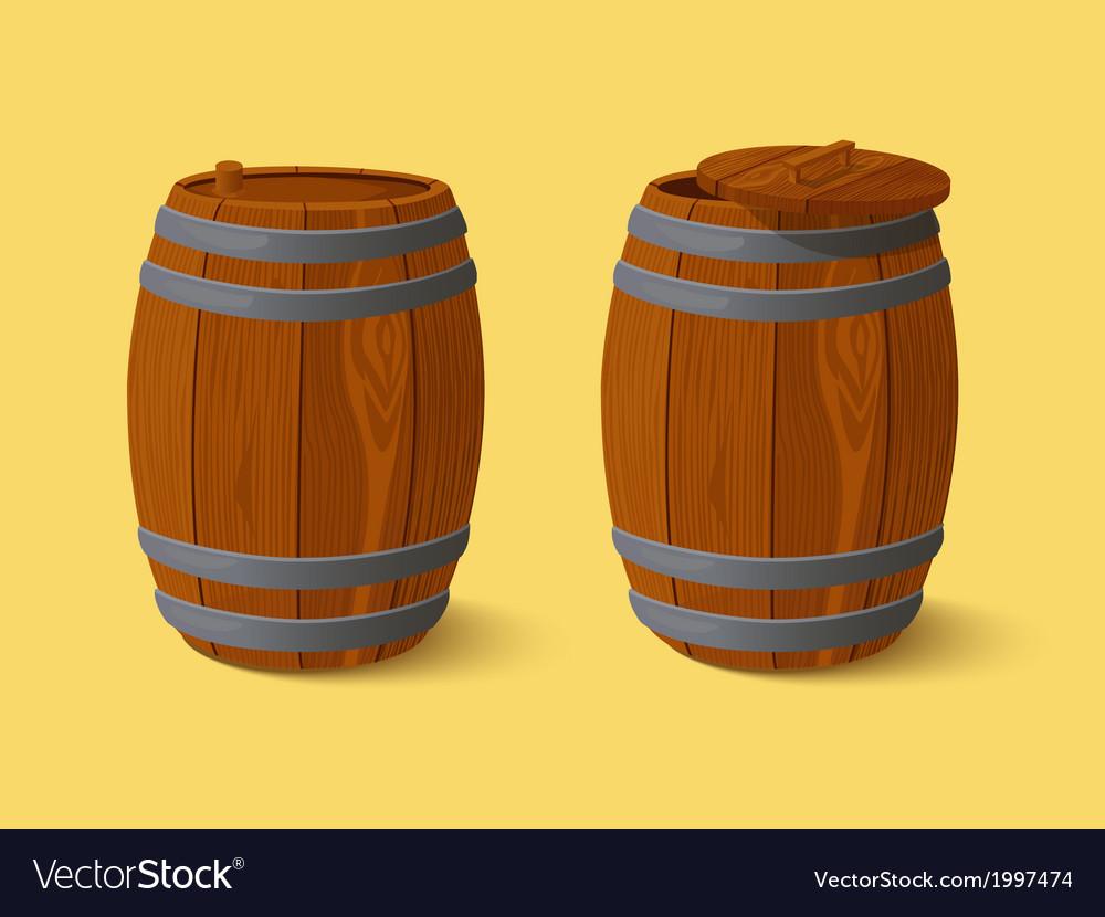 Barrel wooden casks vector | Price: 1 Credit (USD $1)