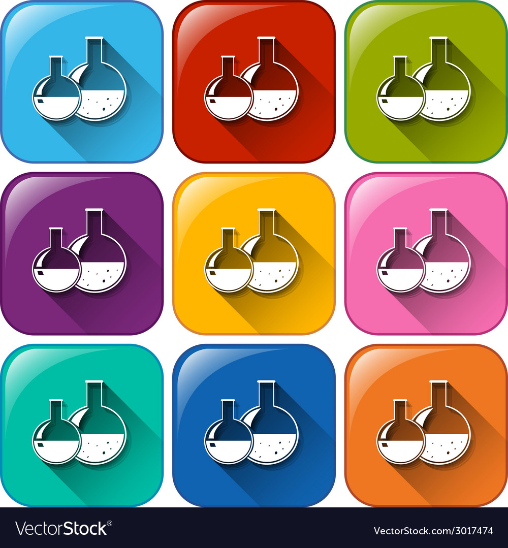Buttons with chemicals vector | Price: 1 Credit (USD $1)
