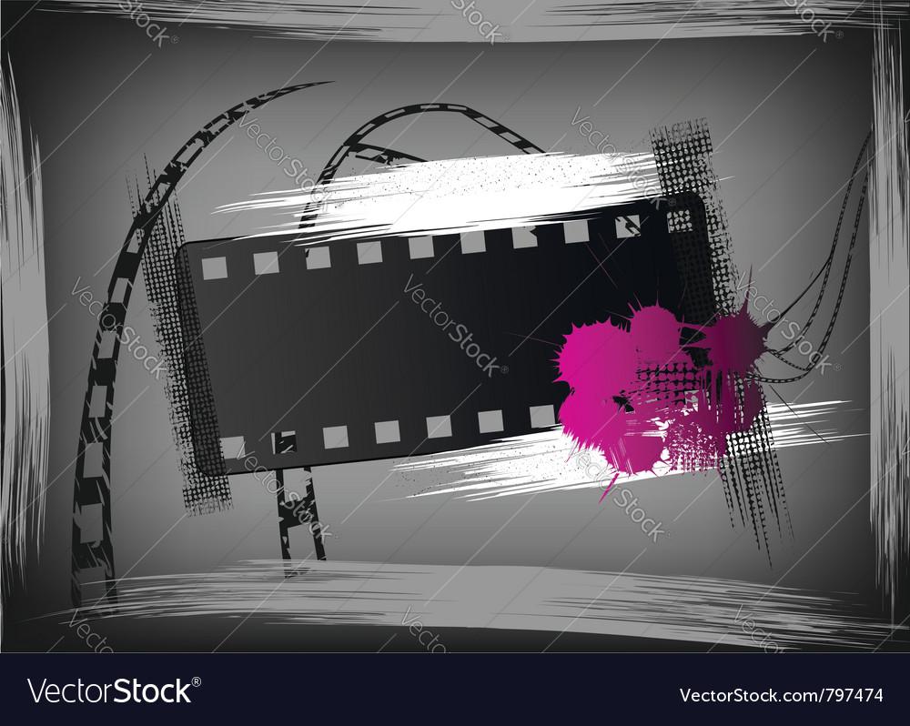 Film grunge banner vector | Price: 1 Credit (USD $1)