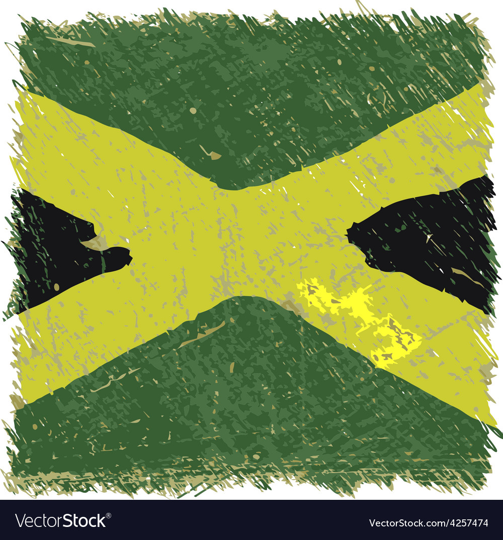 Flag of jamaica handmade square shape vector | Price: 1 Credit (USD $1)