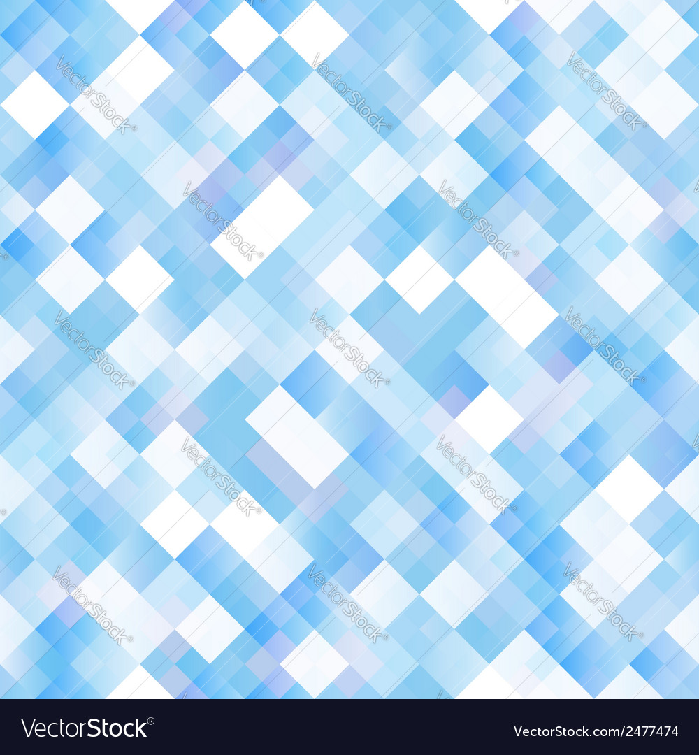 Seamless background with shiny blue squares vector | Price: 1 Credit (USD $1)