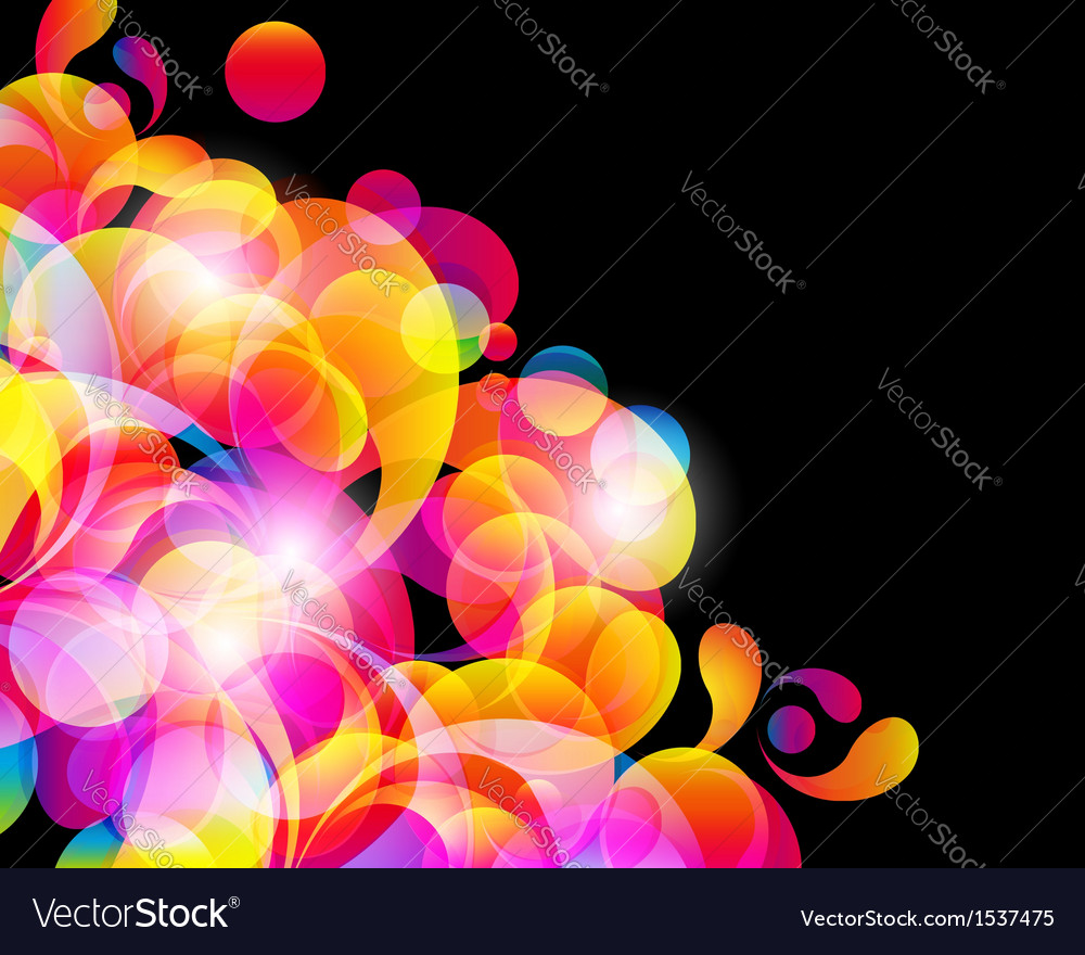 Abstract bright circles background vector | Price: 1 Credit (USD $1)