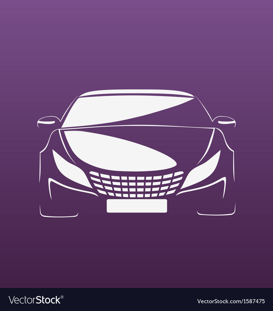 Auto in purple vector | Price: 1 Credit (USD $1)